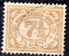NETHERLANDS INDIES 1912 Numeral -  71/2c. - Bistre  FU - Indes Néerlandaises