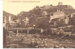 POSTAL   11.- CAMPRODON    -GERONA-  PALANCA DEL MUELLE DE LLATÉ - Gerona