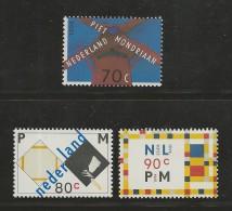 NEDERLAND, 1994, MNHstamps, Mondriaan, Nrs. 1498-1500 #5541 - Period 1980-... (Beatrix)