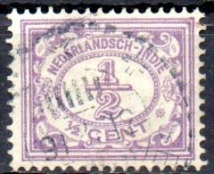 NETHERLANDS INDIES 1912 Numeral -   1/2c. - Lilac  FU - Niederländisch-Indien