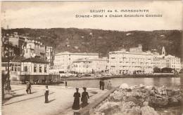 SALUTI DA SANTA MARGHERITA LIGURE - STRAND -  HOTEL E CHALET CRISTOFORO COLOMBO - Genova (Genoa)