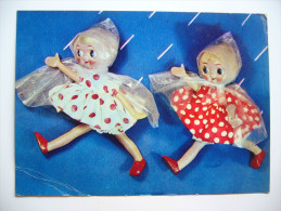Russia: USSR - In The Rain - Russian Dolls In Raincoat - 1968 Unused - Spielzeug & Spiele