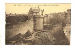 NANTES - LOIRE ATLANTIQUE - LES DOUVES ET LES TROIS TOURS DU CHATEAU DE LA DUCHESSE ANNE - Nantes