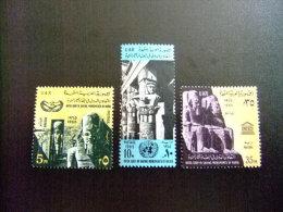 EGIPTO - EGYPTE - EGYPT - UAR - 1965 - Yvert Nº 663 / 665 ** MNH -  20 ANNIVERSAIRE DES NATIONES UNIES  (UNESCO ) - UNESCO