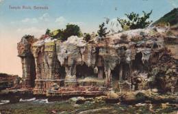 (3 Scans) Bermuda, Temple Rock, Gel.1923, Seltene Orig.2 Fach Frankierung - Mexiko