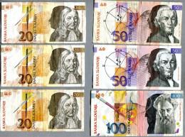 3265 - SLOWENIEN - 6 Banknoten - Gebraucht - SLOVENIA, 6 Banknotes - Slowenien