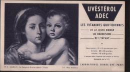 BUVARD PUBLICITAIRE UVESTEROL ADEC MURILLO LA VIERGE DU ROSAIRE PORT 1,10 EURO - Produits Pharmaceutiques