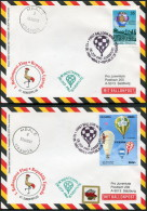 1993 Austria Uganda Sonderballonpost 47 Mbale Pro Juventute Charity Balloon Flights Covers X 2 - Uganda (1962-...)