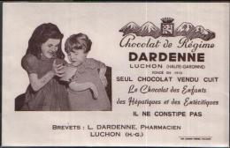 BUVARD PUBLICITAIRE CHOCOLAT DE REGIME DARDENNE LUCHON (HAUTE GARONNE) - PORT 1,10 EURO - Cocoa & Chocolat