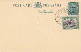 SÜD AFRIKA 1936 - 1/2d Ganzsache + Zusatzfrankierung Sondermarke Auf Pk - Südafrika (...-1961)