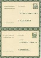 1965 & 1968  2 Funklotteriekarten  Neu - Postales - Nuevos