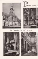 Cp , TCHÉQUIE , PRAHA-HRAD , Katedrala Sv. Vita , Multi-Vues - Czech Republic