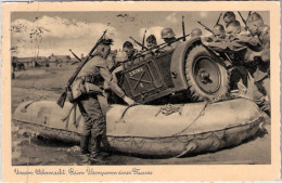 WEHRMACHT Pioniere Beim Überqueren Eines Flusses Mit Technik Deutsche Ostmesse KÖNIGSBERG 6.7.1937 Gelaufen - Guerra 1939-45