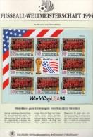Team Morocco Fußball WM 1994 Vincent 2830 Kleinbogen ** 8€ Kicker World Cup USA-Flagge M/s Bf Flag Bloc Soccer Sheetlet - World Cup