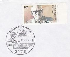 1986 Neuhaus COVER  FISHING ANGLING  Pic EVENT Pmk GERMANY Stamps FISH - Fishes