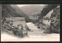 CPA Les Gorges Du Drac, Les Gorges Du Drac Et Le Grand Barrage En Construction - France