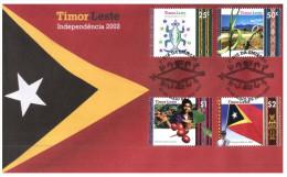 (PH 124) Australia FDC Cover - 2002 - Timor Leste (issued By Aus Post) - Ersttagsbelege (FDC)