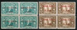 Honduras Airmail 1942 Scott C118-C119 Blocks Of 4, Surcharge On 1939 Issue, MNH Complete Set  Cp2 - Honduras