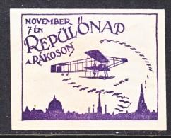 HUNGARY  AEROPHILATELIC  VIGNETTE    * SZEGED-BUDAPEST  1925 - Airmail