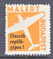 HUNGARY  AEROPHILATELIC  NOT ISSUSED  SEMI-OFFICIAL  AIR EXPRESS    * - Airmail