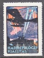 HUNGARY  AEROPHILATELIC  VIGNETTE  1917   *   1st.  ARMY  AERO  EXPO.  SEAPLANE - Airmail