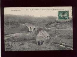 50 De St Hilaire à Ducey Le Pont D'orrièresc édit. ELD N° 1335 Moulin à Roue Chaumière - Andere Gemeenten