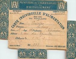 SANNOIS Carte Individuelle  D'alimentation à MR BRISSON   8 Rue Des épinettes - Sannois