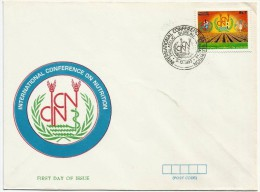 PAKISTAN MNH 1992 FDC FIRST DAY COVER INTERNATIONAL CONFERENCE ON NUTRITION - Pakistan