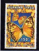 BURKINA FASO 1996 FAUNA FAUNE BUTTERFLIES FARFALLE PAPILLONS 150 F FARFALLA BUTTERFLY PAPILLON MNH - Burkina Faso (1984-...)