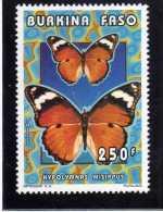 BURKINA FASO 1996 FAUNA FAUNE BUTTERFLIES FARFALLE PAPILLONS 250 F FARFALLA BUTTERFLY PAPILLON MNH - Burkina Faso (1984-...)