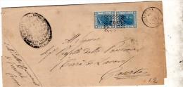 1875 LETTERA CON ANNULLO AVERSA CASERTA - 1861-78 Vittorio Emanuele II