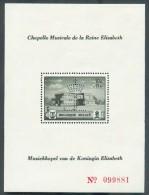 2 Feuillets Erinnophillie Dont BF Chapelle Musicale Reine Elisabeth, Perforation Couronne EL Et 1 Feuillet Pour Le Cente - Commemorative Labels