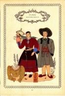 Trachten Der Alpenländer - DEFREGGEN Tirol - Alter Original 10 -Farbendruck 1937 - Ohne Zuordnung