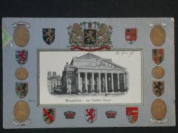 Ref3051 WA CPA Gaufrée De Bruxelles Le Théâtre Royal - N°3091a - écusson Et Blason - Guggenheim Zurich Artiste 1907 - Monuments, édifices