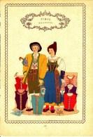 Trachten Der Alpenländer - EGGENTAL -Tirol - Alter Original 10 -Farbendruck 1937 - Ohne Zuordnung