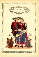 Trachten Der Alpenländer - MERAN -Tirol - Alter Original 10 -Farbendruck 1937 - Ohne Zuordnung