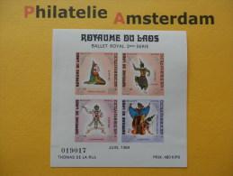 Laos 1969, BALLET ROYAL: Mi 253-56, Bl. 48, ** - Laos