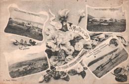 DE MAILLY LE CAMP JE VOUS ENVOIE CES FLEURS PARC D'AVIATION LES MECANICIENS LES HANGARS CAPITAINE BORDAGE CIRCULEE 1916 - Caserme