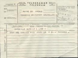 Télégramme D´ETTERBEEK (STATION) ** Le 1-X-1958 Vers Boitsfort (rue De La Tenderie) - 10031 - Télégraphes