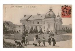 29 Quimper Le Jardin Du Theatre , Cachet Quimper 1906 - Quimper