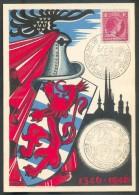 2 Fr. Sur Carte Maximum Obl. Dc RETOUR DE JEAN L´AVEUGLE LUXEMBOURG 1346-1946 - 10036 - Maximum Cards