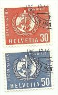 1960 - Svizzera S421/22 Org. Mondiale Sanità C3497, - WHO