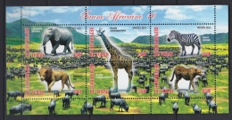 ABN11 - Animaux D´Afrique African Animals - Bloc Feuillet NEUF ** MNH -T Chad 2012 - Eléphants - Girafe - Zèbres - Lions - Autres