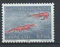 Groënland 1982 N°121 Neuf Crevettes - Greenland