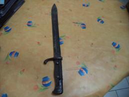 baionette, baionnette, bayonnette, wffen fabrick-mauser -oberndorf voir descriptif