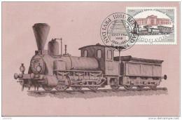 Yougoslavie . TRAIN . Carte 1er Jour . Carte Maximum . Voir Verso . - Trains