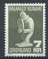 Groënland 1979 N°105 Neuf Artisanat Sculpture Sur Stéatite - Greenland