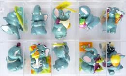 FIGURINES LES ELEPHANTOS SERIE KINDER COMPLETE - 1999