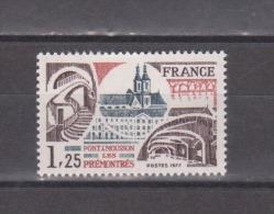 FRANCE / 1977 / Y&T N° 1947 ** : Abbaye Des Prémontrés - Gomme D´origine Intacte - France
