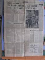 La Une:Journal Du Dimanche 19/01/1969 : Un Romanichel De Génie : Django Reinardt-sa 1ere Guitare Comment Un Bohème Déco - Newspapers
